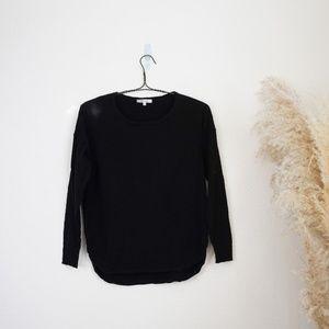 Madewell black long sleeve sweater top